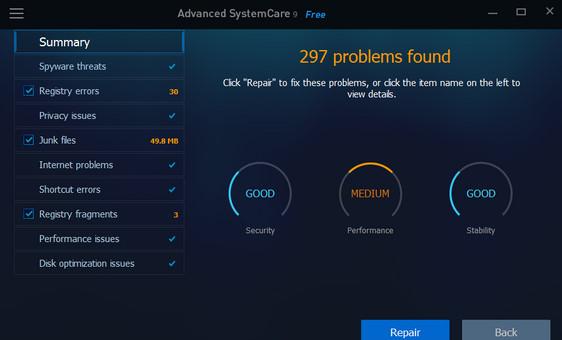 Advanced SystemCare 10 Ücretsiz indir
