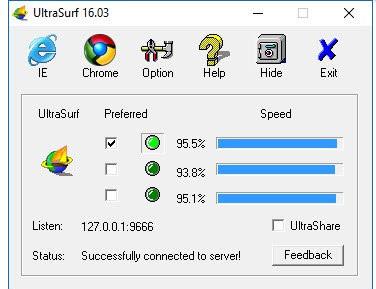 UltraSurf Yasaklı Sitelere Giriş Programı