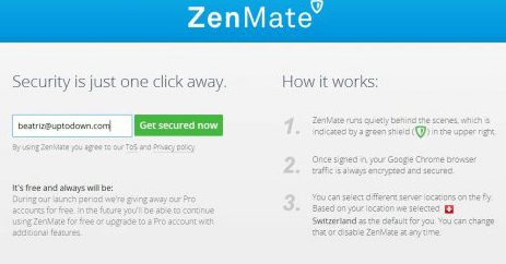 ZenMate Chrome Proxy Eklenti